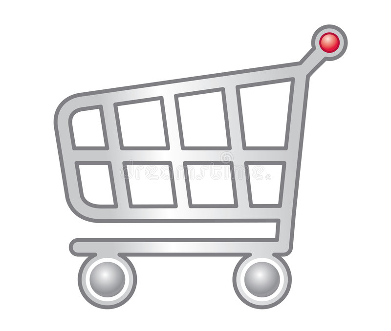 购物车购物万维网 向量例证