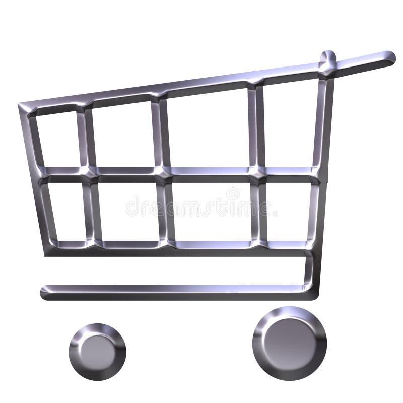 购物车购物银 库存例证
