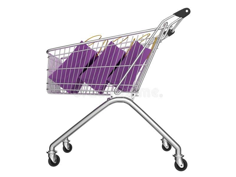 购物车购物 免版税图库摄影