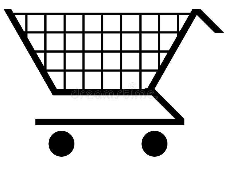 购物车购物 向量例证