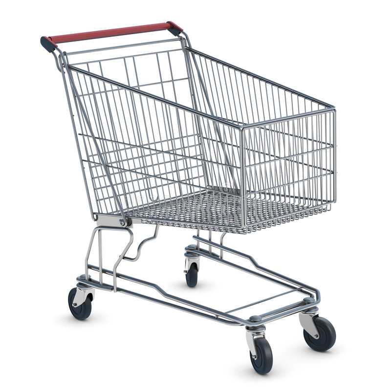 购物车购物 免版税库存照片