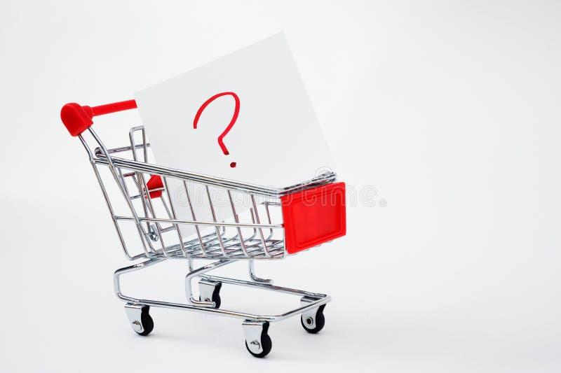 购物车问题购物 免版税库存照片