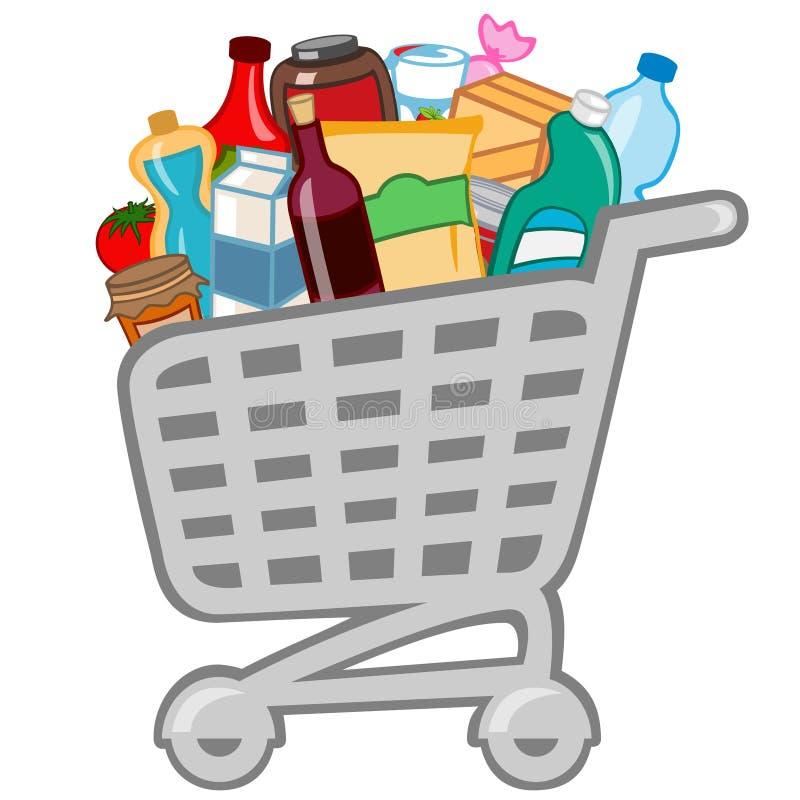 购物车 向量例证