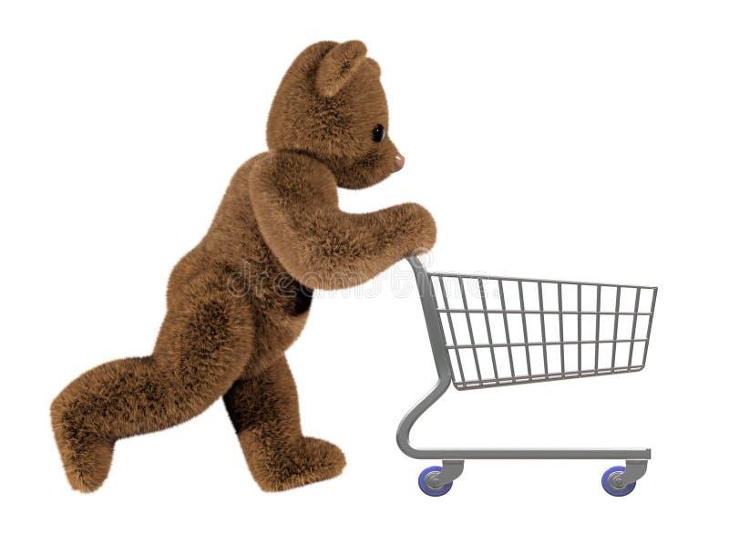 购物teddys台车 库存例证