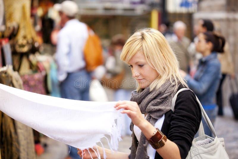 购物turist 免版税库存照片