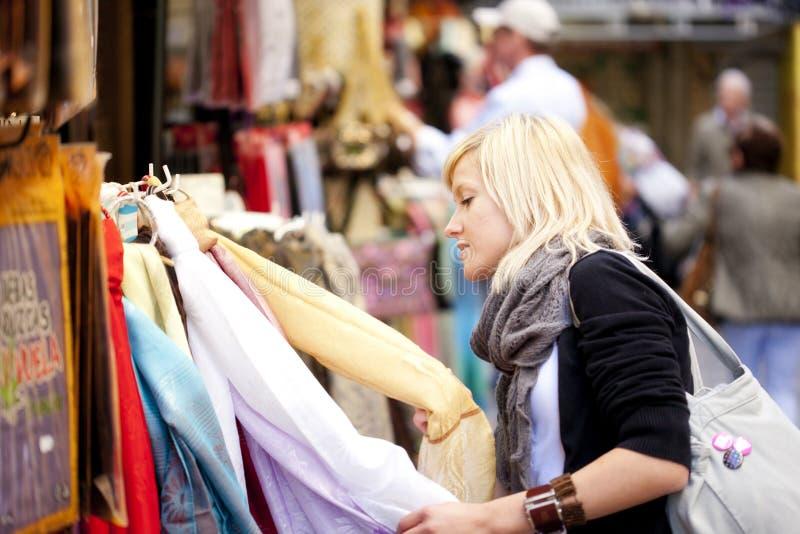 购物turist 免版税库存图片