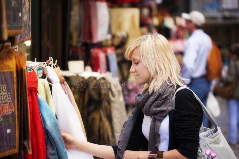 购物turist 图库摄影