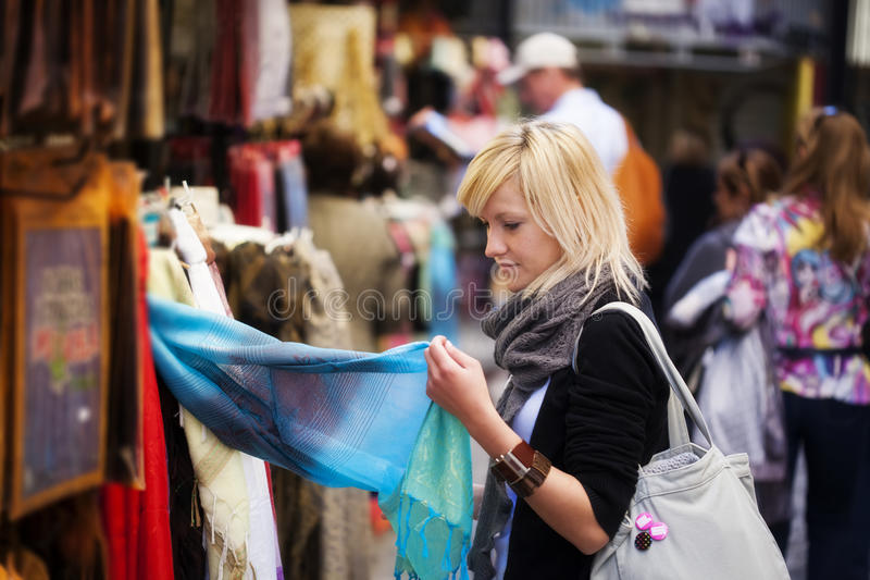 购物turist 库存照片