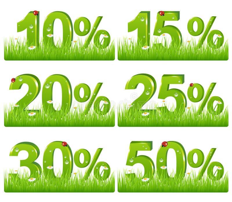 贴现判断草绿色向量 向量例证