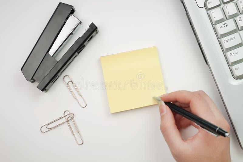 贴纸妇女文字 免版税库存图片