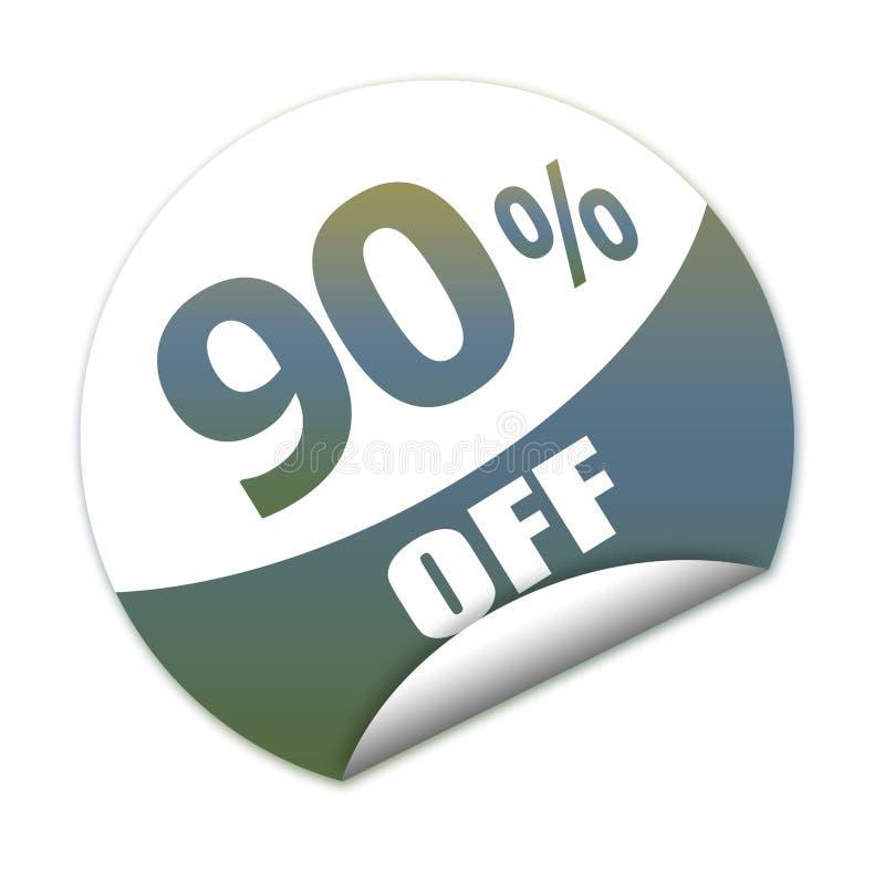 贴纸折扣的百分之九十 库存例证