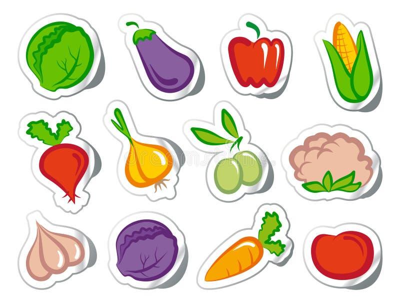 贴纸蔬菜 向量例证