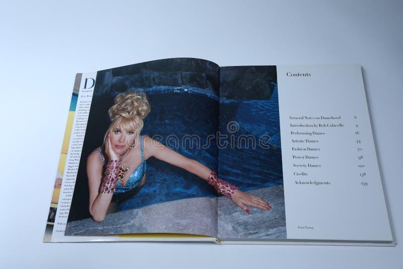 贵妇人:有主动性和态度的, Ivana王牌画象妇女 库存照片