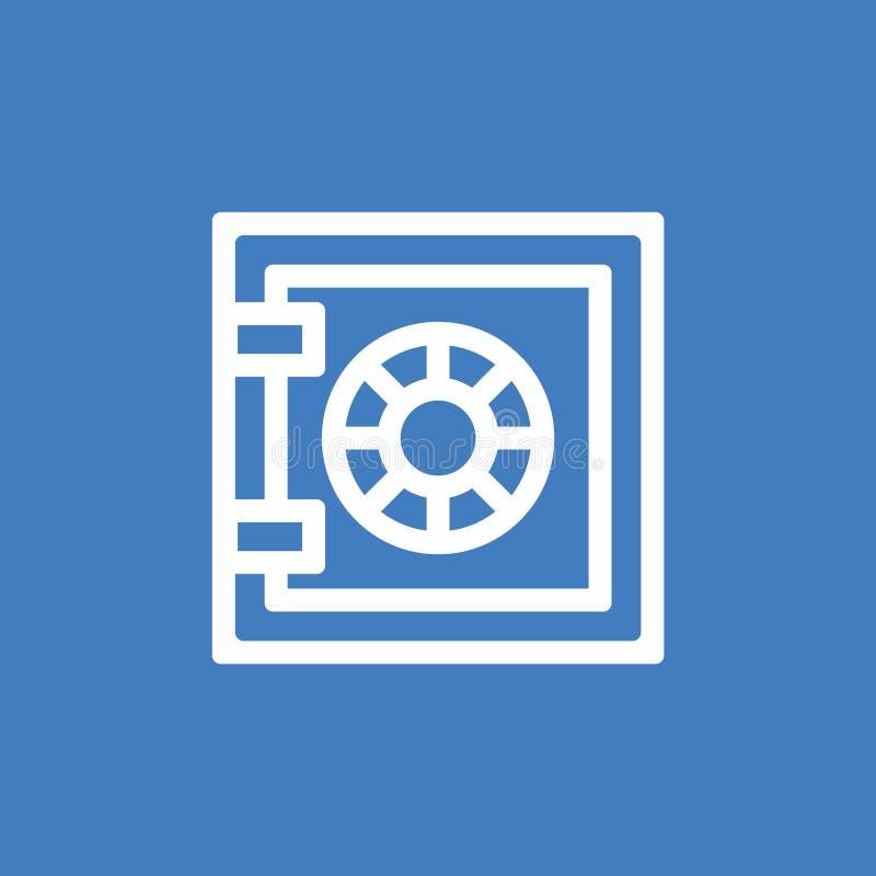 贵重物品保险库概述传染媒介eps10 安全白色概述象 保险箱 库存例证