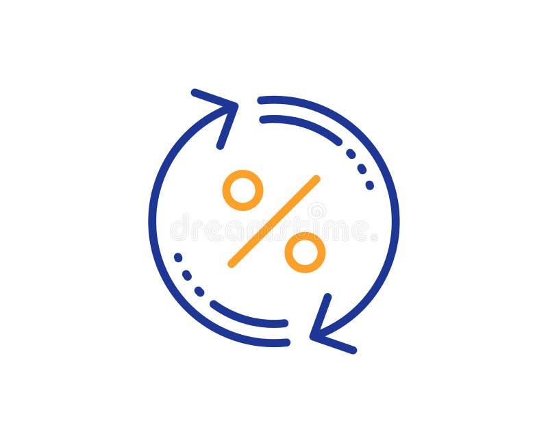 贷款百分之更新线象 折扣标志 向量 库存例证