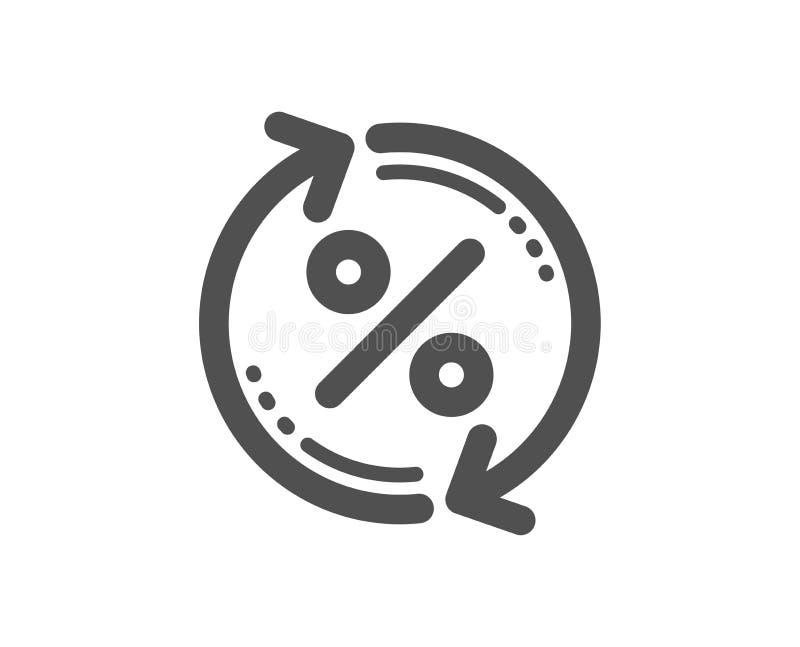 贷款百分之更新象 折扣标志 向量 库存例证