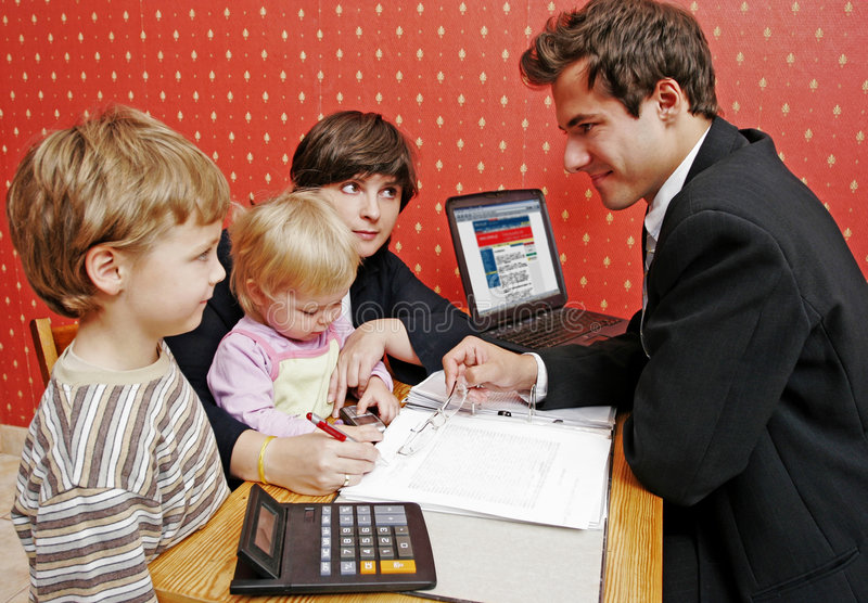 贷款系列 免版税库存图片