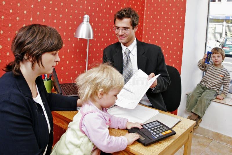 贷款系列 免版税库存照片