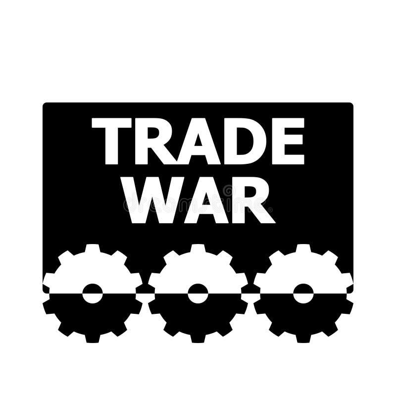 贸易战设计 向量例证