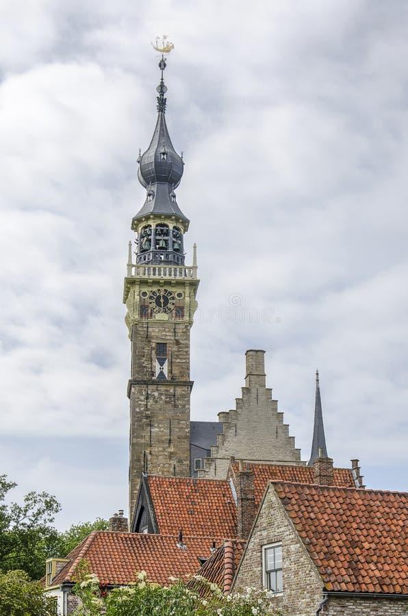 费勒城镇厅塔 免版税图库摄影