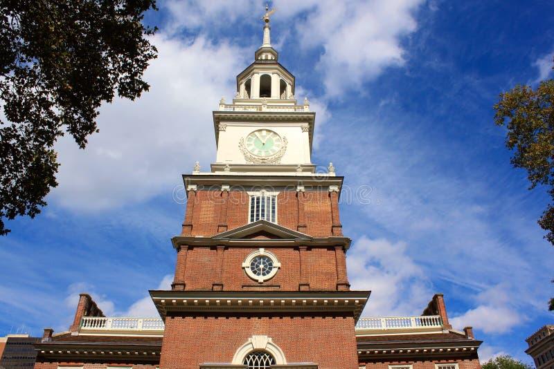 费城历史和老市政厅  免版税图库摄影