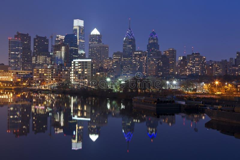 费城地平线。 库存图片