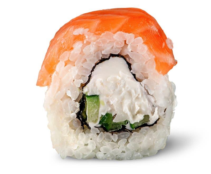 费城寿司卷单件  免版税图库摄影