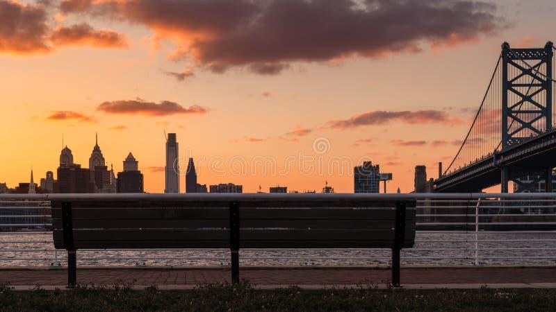 费城市视图 库存照片
