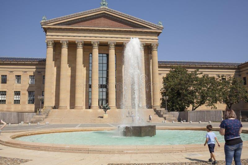 费城艺术馆大门 库存图片