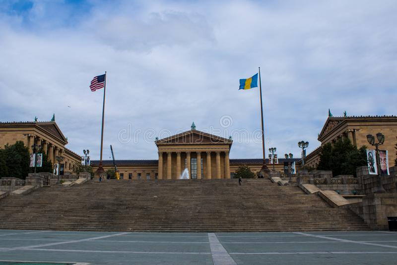 费城艺术馆 库存照片