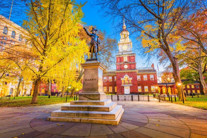 费城,美国独立纪念馆的宾夕法尼亚 免版税库存照片