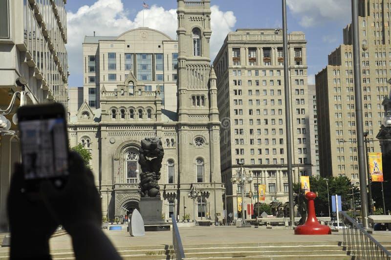 费城, PA, 7月3日:从费城的共济会的寺庙在宾夕法尼亚美国 免版税图库摄影