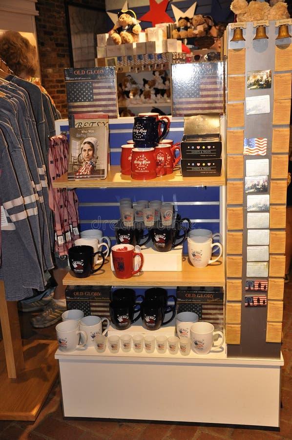 费城, PA, 7月3日:Betsy罗斯议院从费城的纪念品店在宾夕法尼亚美国 免版税库存图片