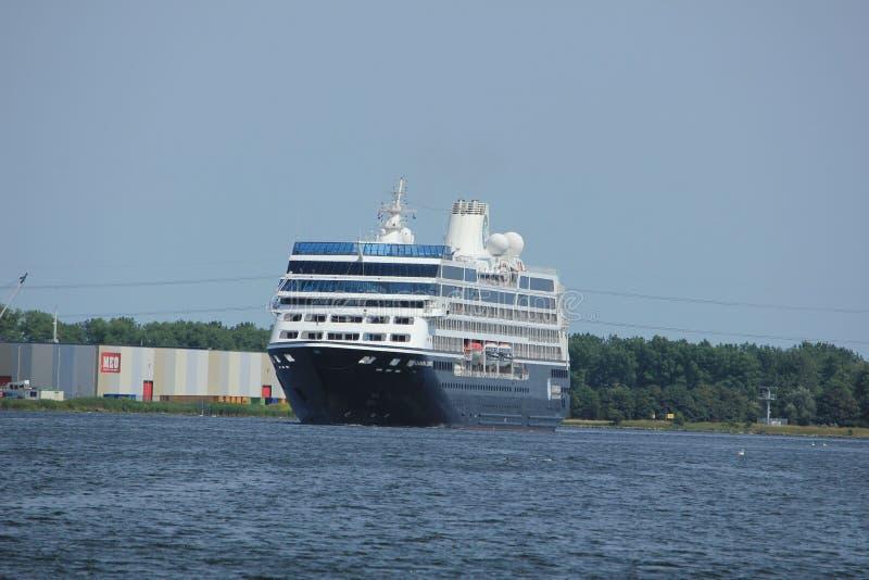 费尔森,荷兰- 2017年6月21日:Azamara旅途- Azamara俱乐部巡航 免版税图库摄影