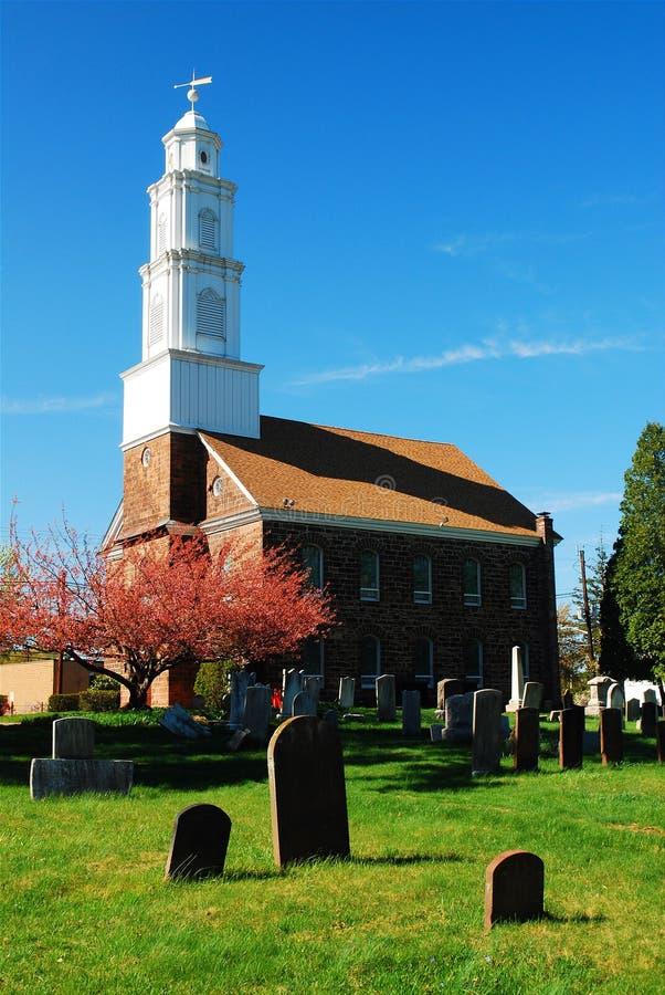 费尔菲尔德荷兰语被改革的教会 库存照片