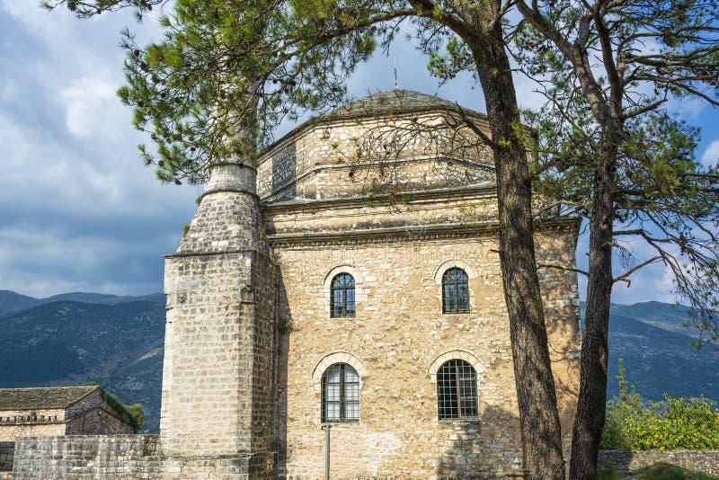 费特希耶清真寺奥托曼清真寺在约阿尼纳,希腊 免版税库存图片
