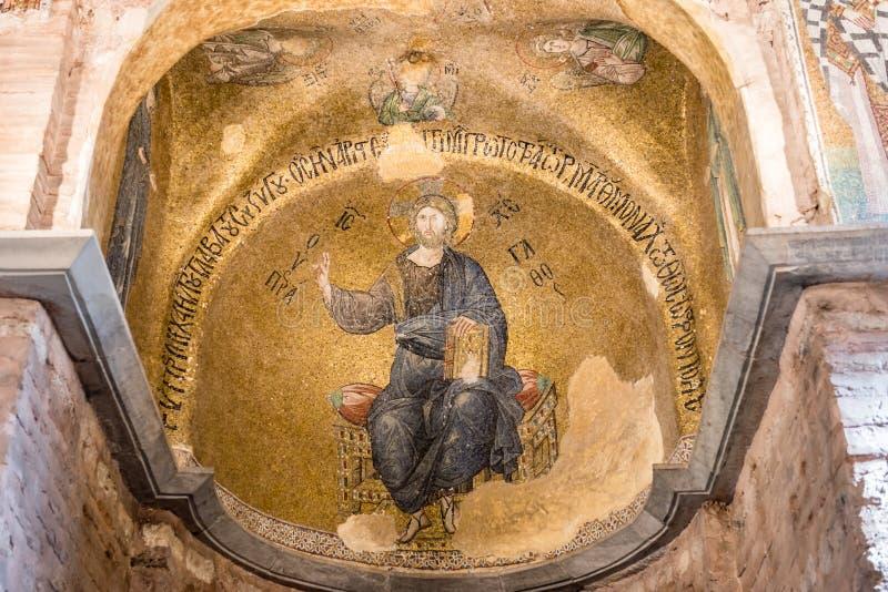 费特希耶Camii,Pammakaristos教会,拜占庭式的教会在伊斯坦布尔,土耳其 库存照片