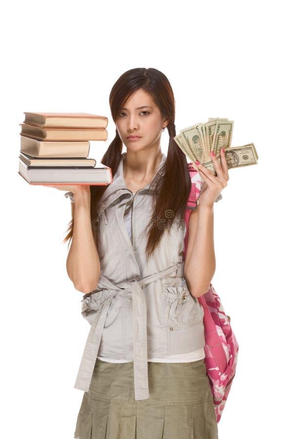 费用严重教育的问题 免版税库存照片