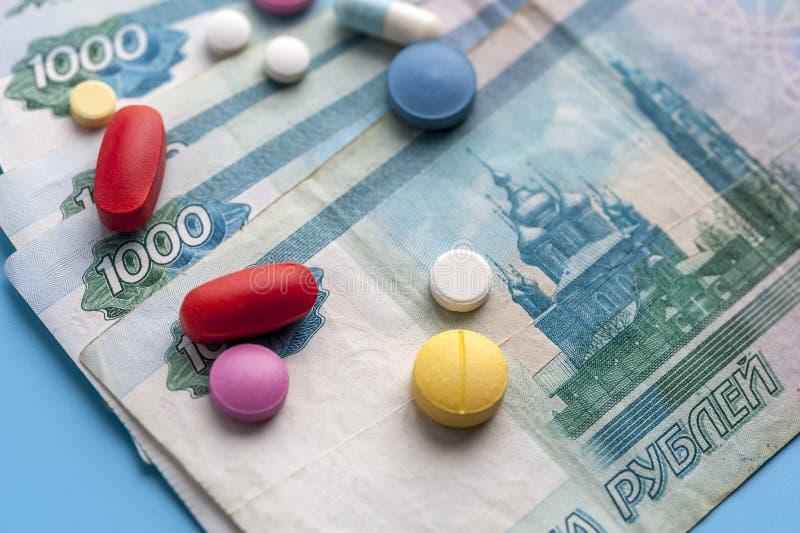 费用的概念在健康促进和医院治疗的 免版税图库摄影