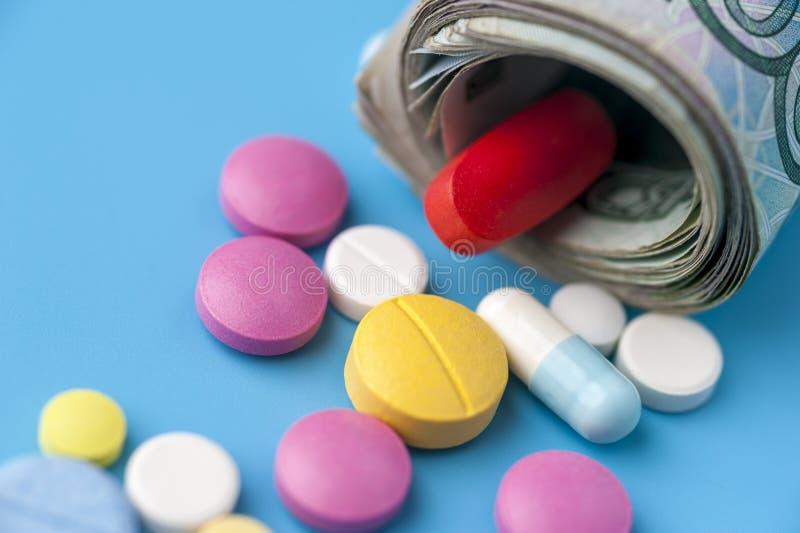 费用的概念在健康促进和医院治疗的 免版税库存图片