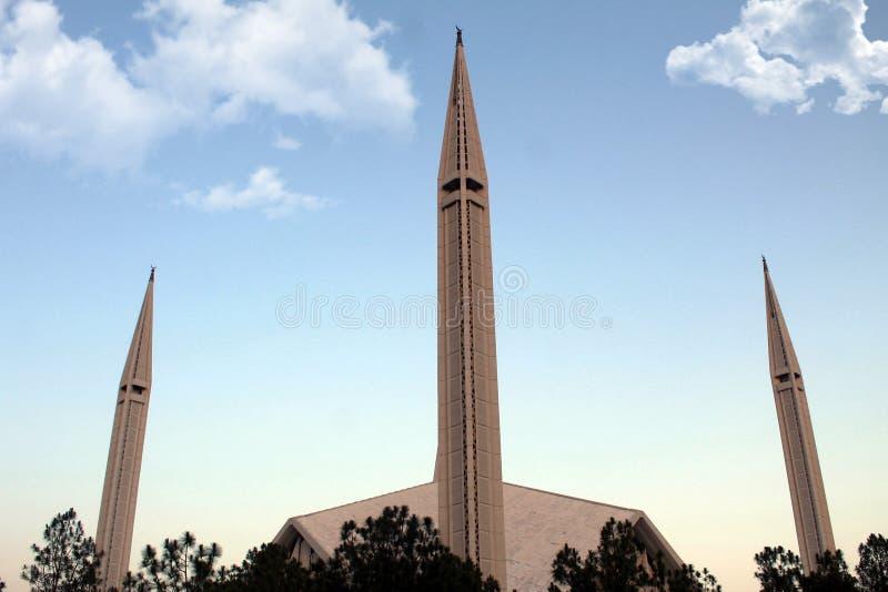 费萨尔清真寺,伊斯兰堡,巴基斯坦 免版税库存图片