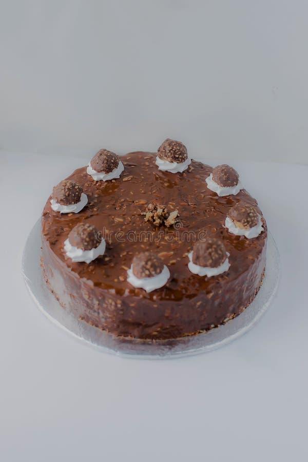 费雷洛Rocher蛋糕 免版税库存照片