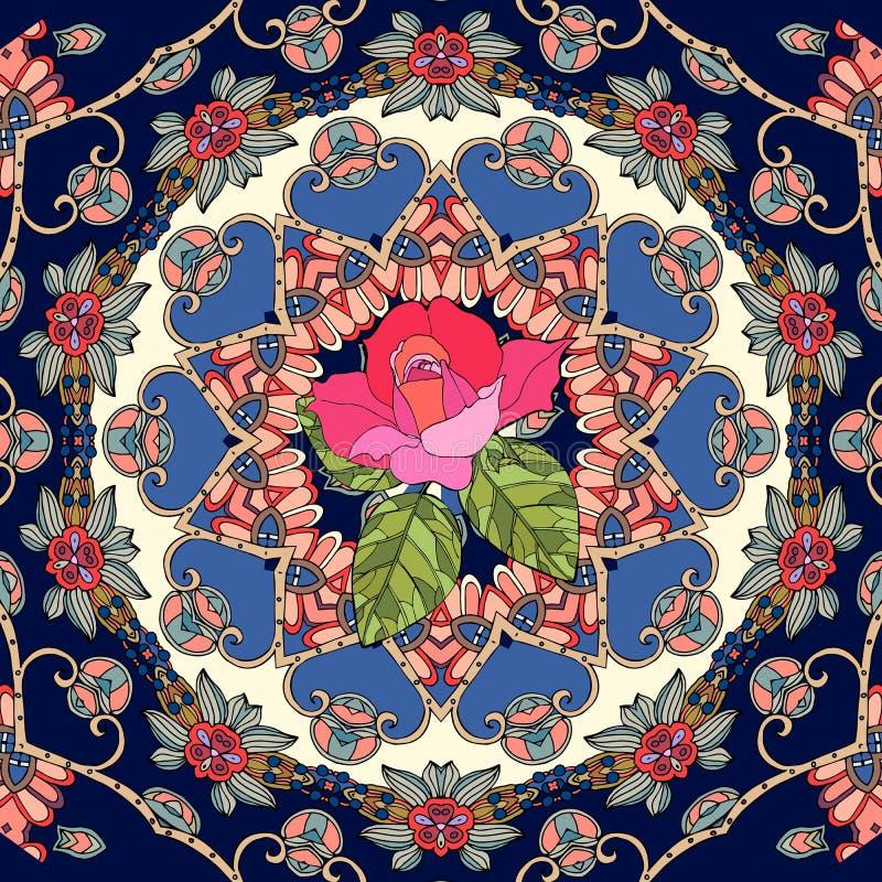 贺卡或婚礼邀请与逗人喜爱的桃红色玫瑰在装饰背景 皇族释放例证