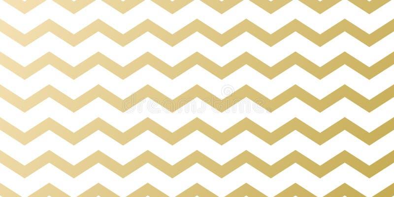 贺卡设计的圣诞节假日金黄样式背景模板 导航金子之字形波浪条纹摘要样式为 向量例证