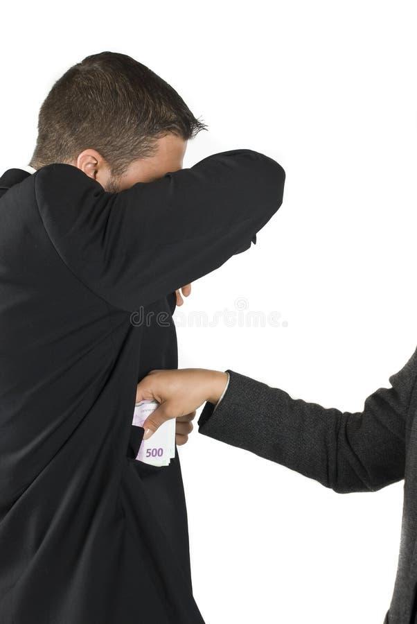贿款接受人 库存照片
