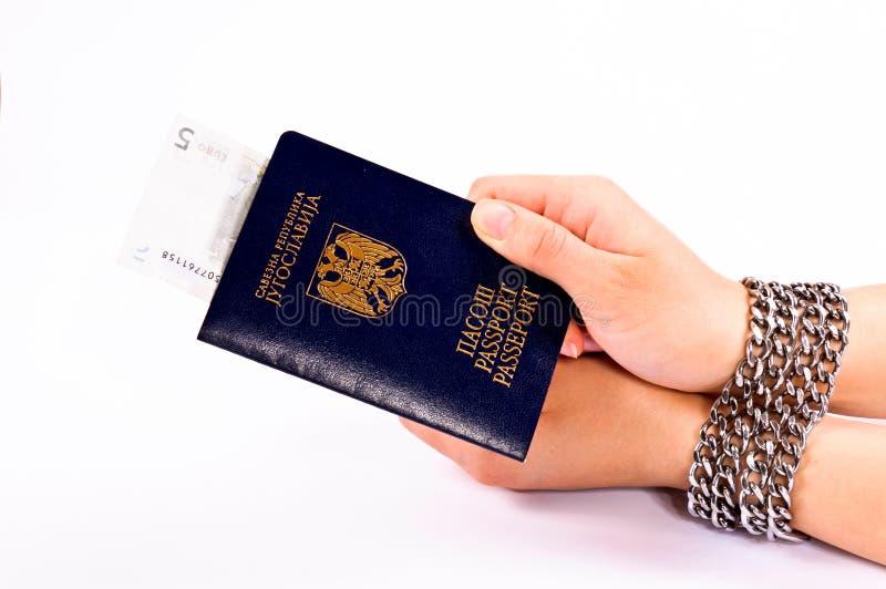 贿款passaport 免版税库存图片