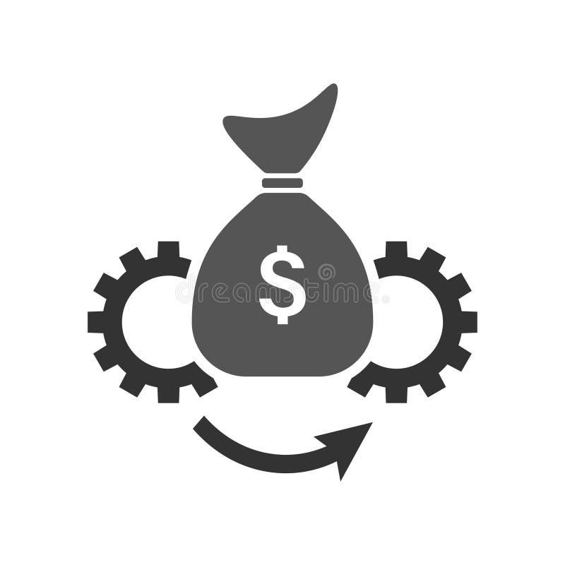资产管理向量图标插图 平整样式 符号,徽标矢量图形 EPS10 皇族释放例证