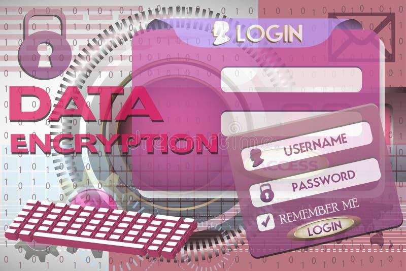 资料加密 向量例证