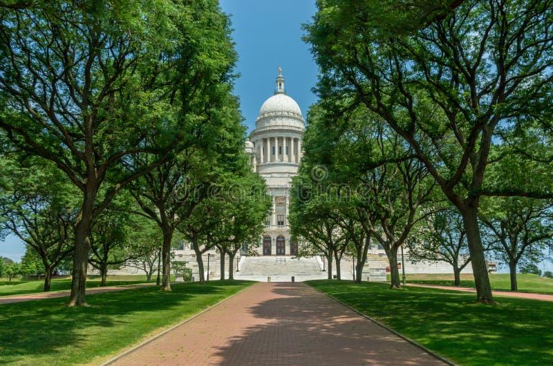 资本上帝的罗德岛州状态议院 美国 库存图片