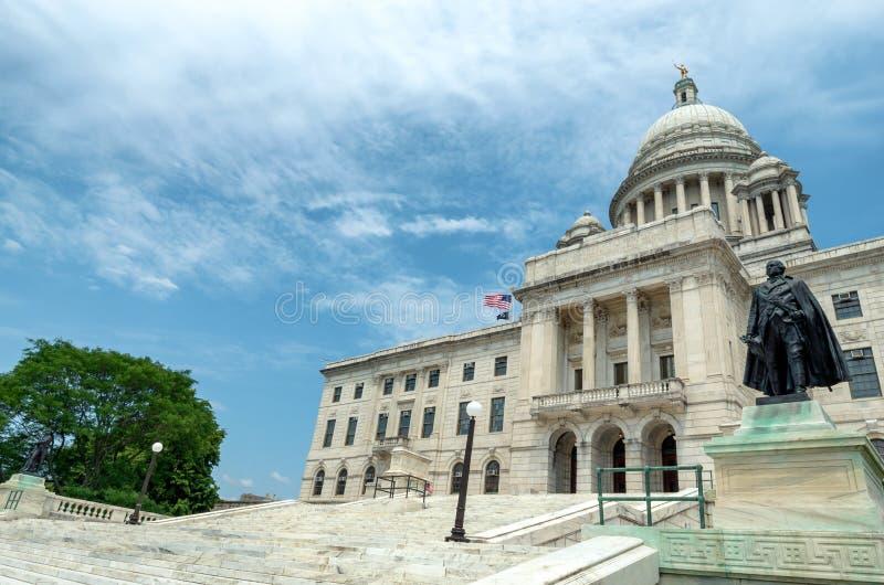 资本上帝的罗德岛州状态议院 美国 免版税库存图片